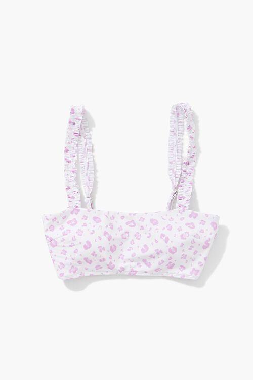 VIOLET/MULTI Leopard Print Bralette Bikini Top, image 4