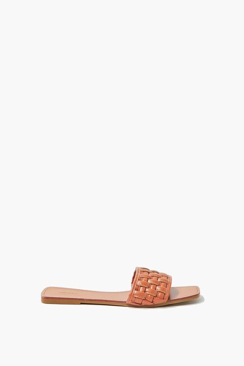Crosshatch Square-Toe Flat Sandals, image 4