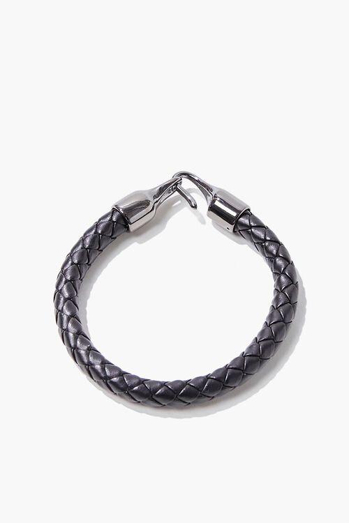 Men Faux Leather Braided Bracelet, image 2