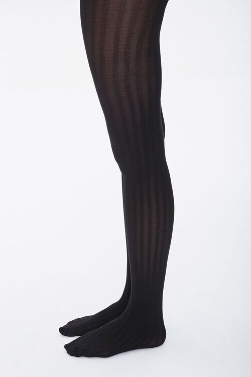 Opaque Ribbed Tights, image 2
