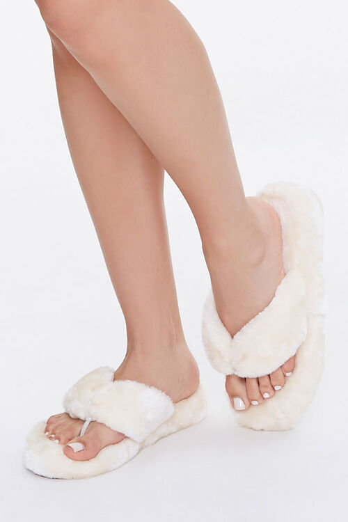 Plush Thong Slippers, image 1