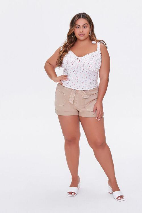Plus Size Floral Sweetheart Top, image 4