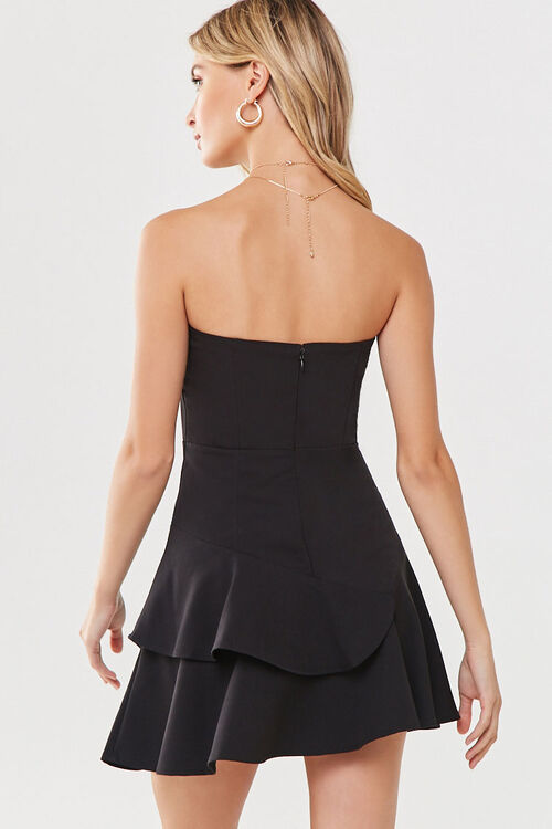 Flounce Hem Mini Dress, image 3