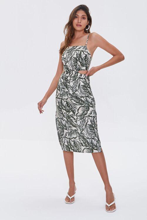 Tropical Print Cutout Dress, image 4
