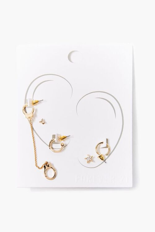 Rhinestone Star Earring Set, image 1