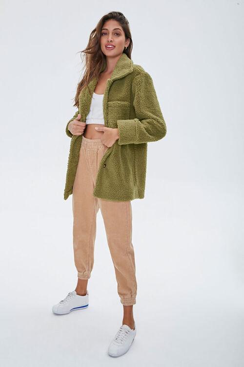 Faux Shearling Drop-Sleeve Jacket, image 4