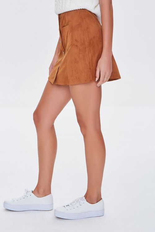 Faux Suede Mini Skirt, image 3