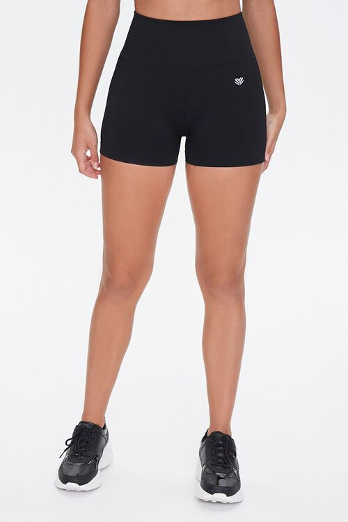 BLACK Active Seamless Biker Shorts, image 2