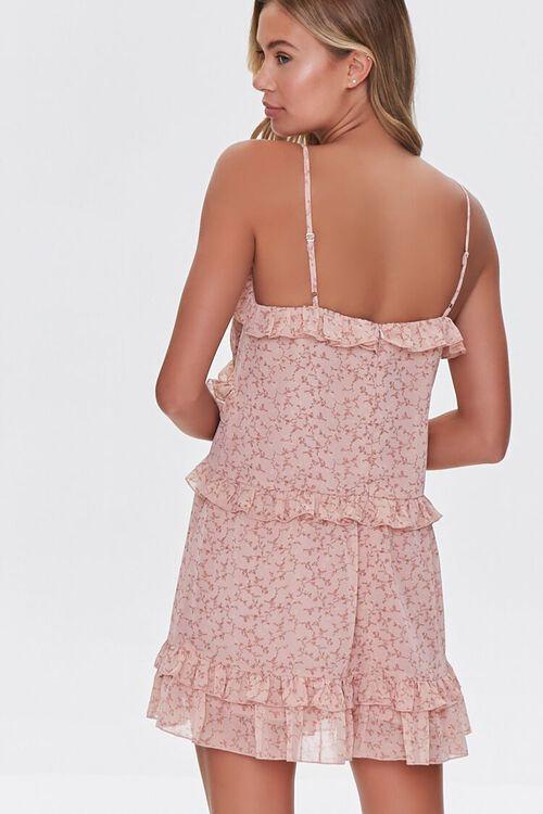 Ruffled Floral Print Mini Dress, image 3