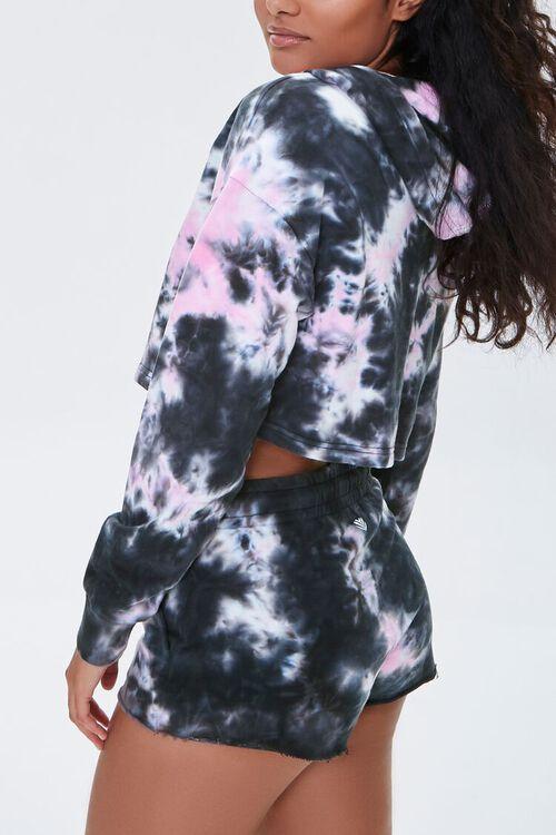 BLACK/PINK Active Tie-Dye Shorts, image 3