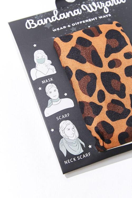 BROWN/MULTI Leopard Print Bandana Wizard, image 2