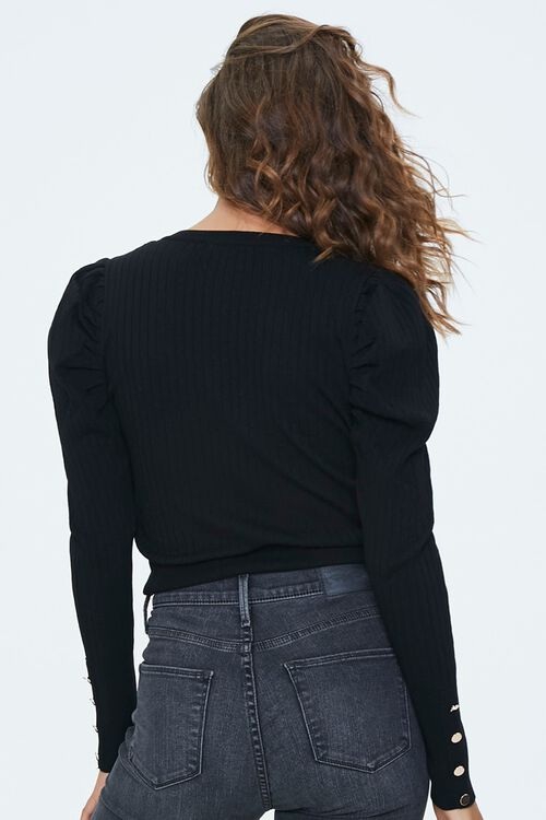 Ribbed Knit Cropped Sweater, image 3