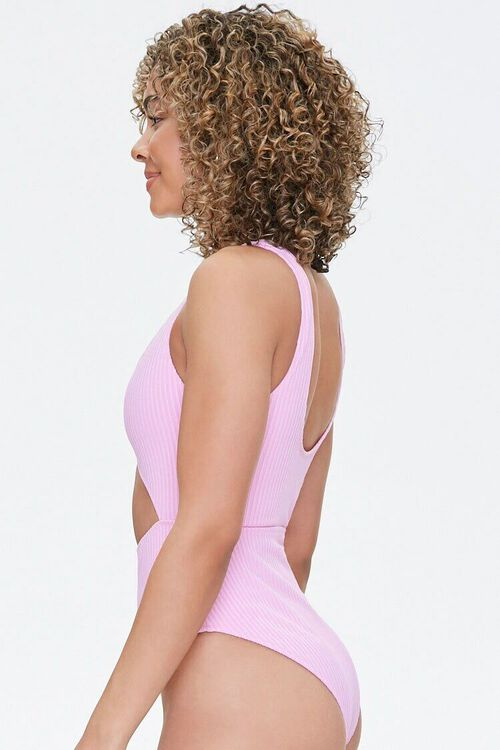 Ribbed Cutout One-Piece Swimsuit, image 2