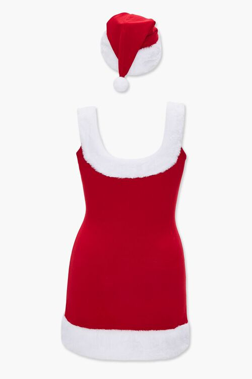 RED/CREAM Plus Size Santa Tank Dress, image 3