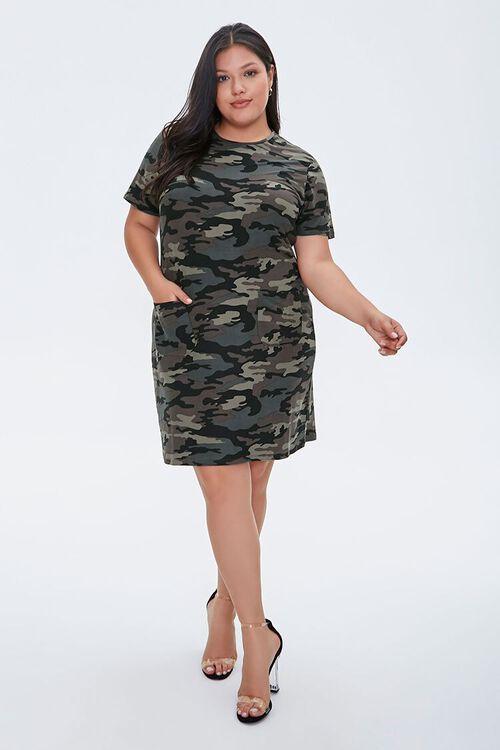 Plus Size Camo T-Shirt Dress, image 4