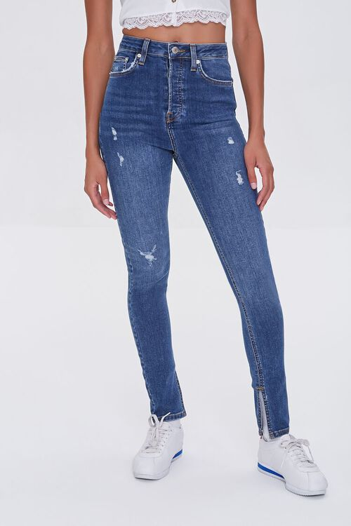 DARK DENIM Premium High-Rise Skinny Jeans, image 2