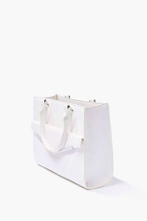 Structured Faux Leather Satchel, image 2