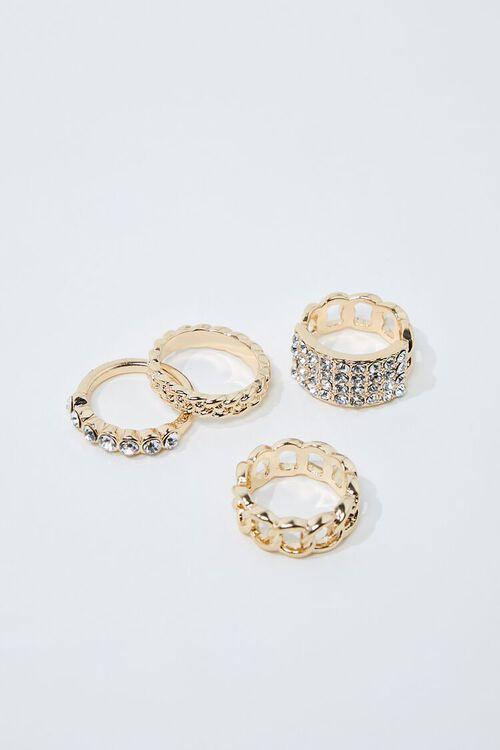 Faux Gem Ring Set, image 1