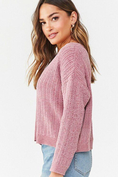 Chenille V-Neck Sweater, image 2