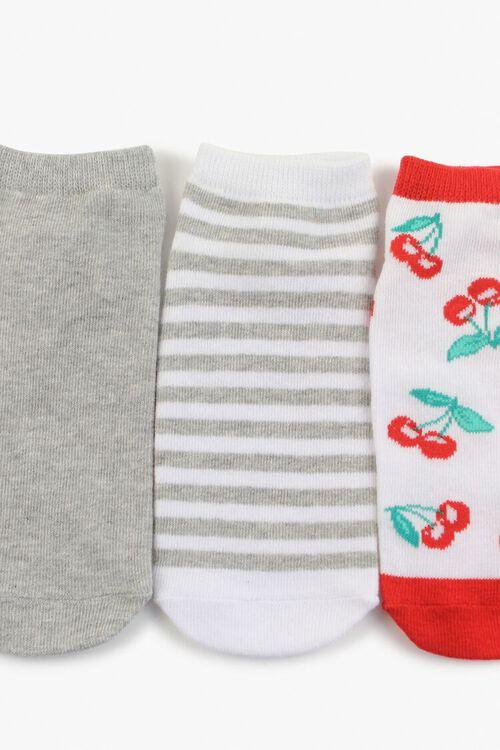 Cherry Print Ankle Sock Set, image 1