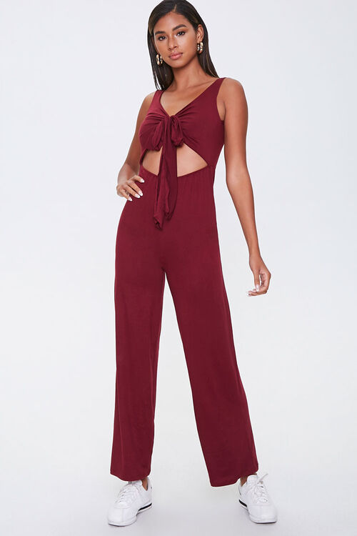 Knotted Cutout Jumpsuit, image 1