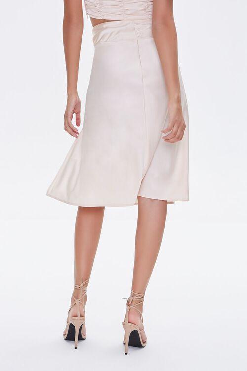 Gathered Satin Slit Skirt, image 4