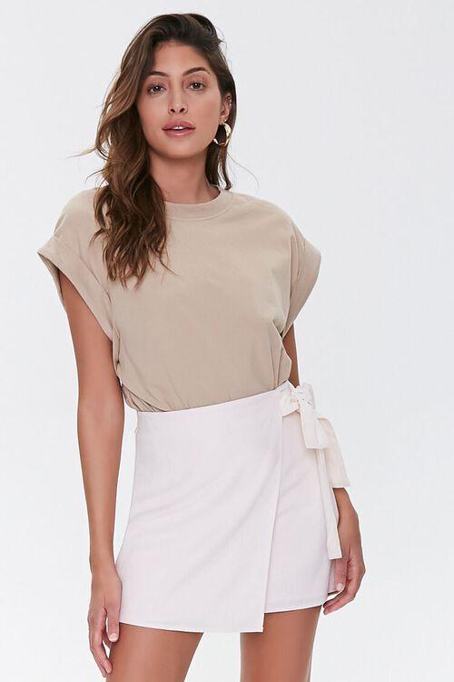 Tie-Waist Mini Skirt, image 1