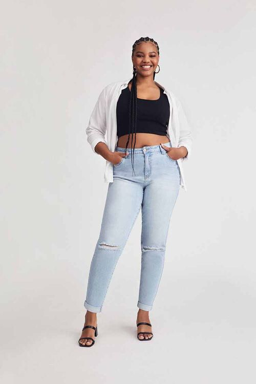 Plus Size Premium Boyfriend Jeans, image 1