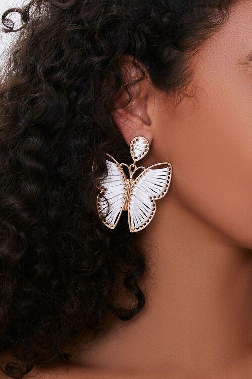 Butterfly Pendant Drop Earrings, image 1