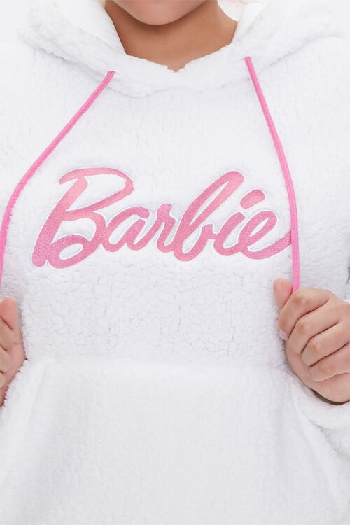 Plus Size Faux Shearling Barbie™ Hoodie, image 5