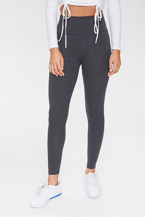 High-Rise Knit Leggings, image 2