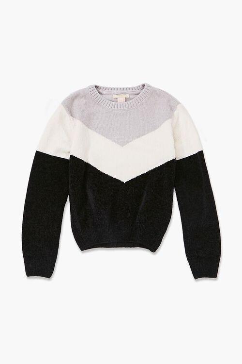 Girls Colorblock Sweater (Kids), image 1