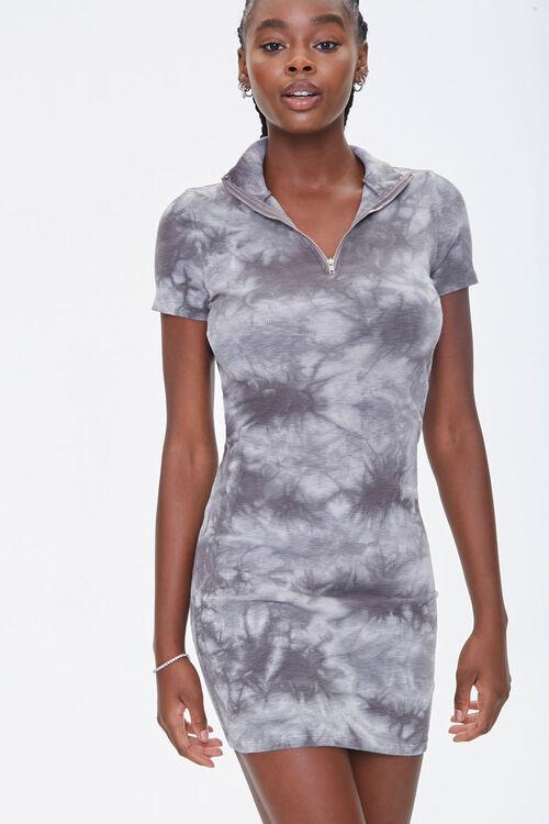 Tie-Dye Half-Zip Dress, image 1