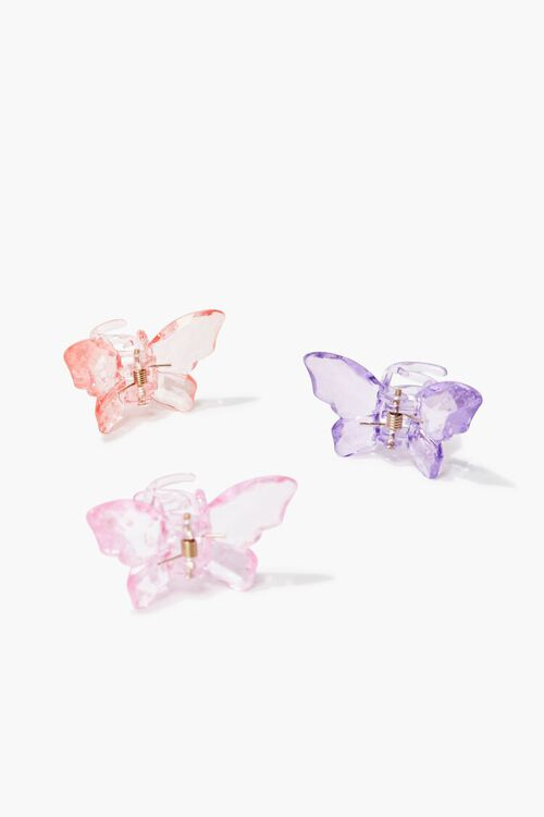 PINK/MULTI Butterfly Clip Set, image 2