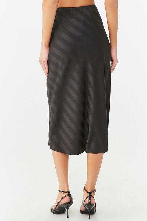 Striped Satin Midi Skirt, image 4