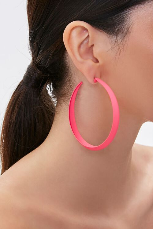 Matte Metal Hoop Earrings, image 1