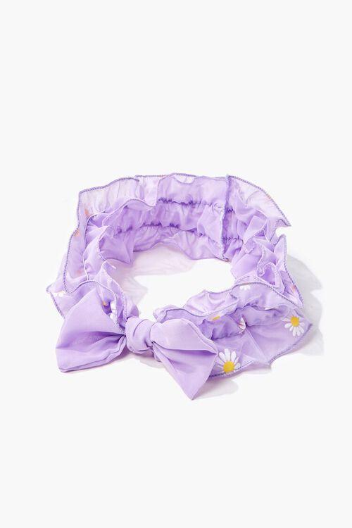 Ruffled Daisy Print Headwrap, image 1
