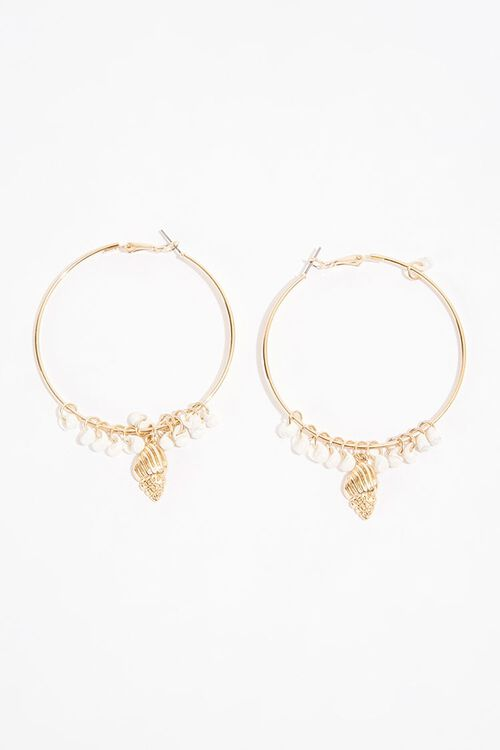 Seashell Hoop Earrings, image 2