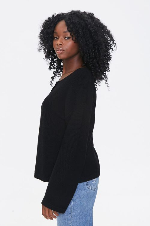 Sweater-Knit Henley Top, image 2