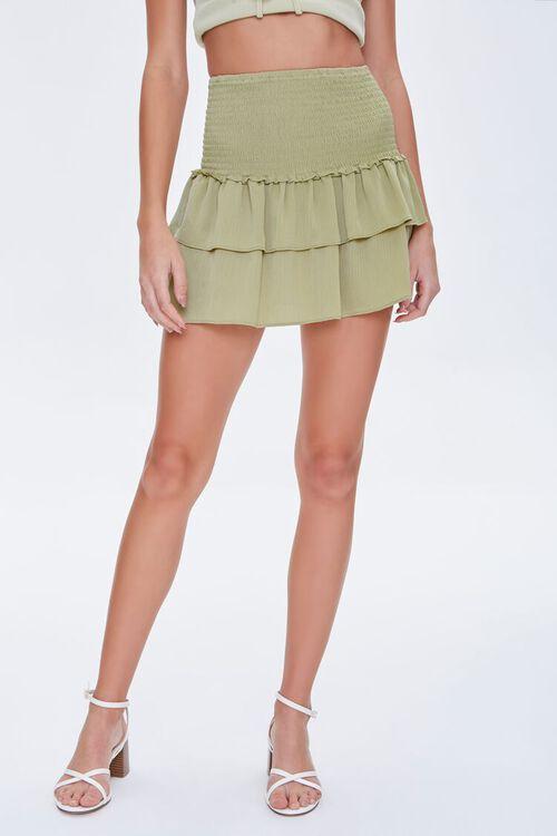 Tiered Flounce Mini Skirt, image 2