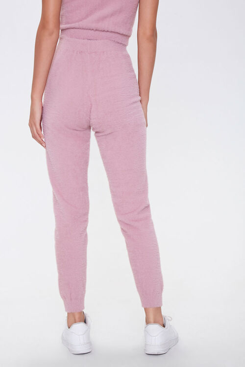 Fuzzy Sweater-Knit Joggers, image 4