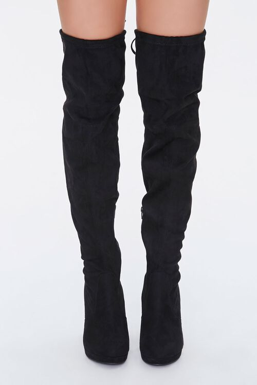 Lace-Up Knee-High Stiletto Boots, image 4