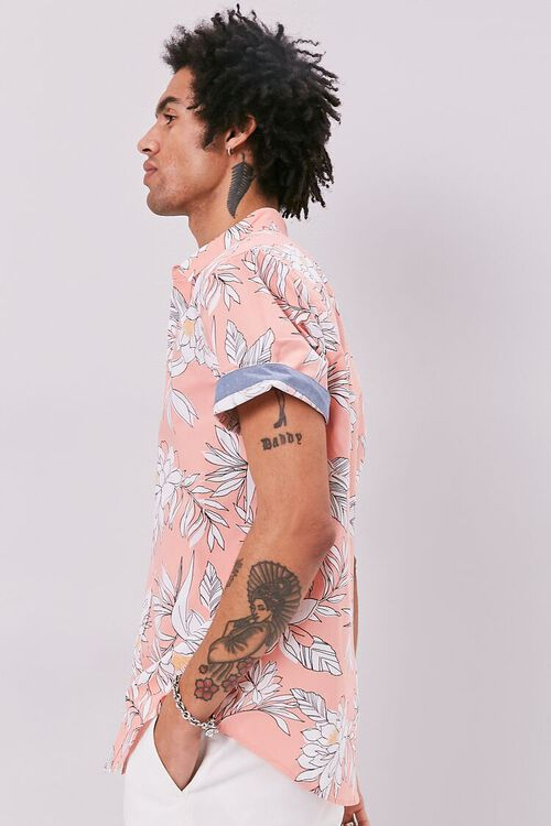 Tropical Print Fitted Shirt, image 2
