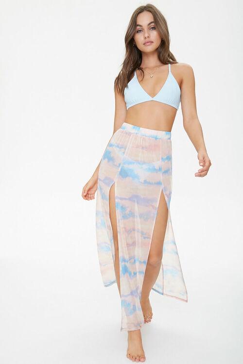 Cloud Wash Mesh Swim Cover-Up Skirt, image 1