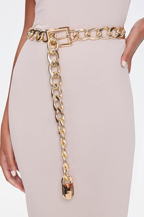 Metallic Chain Waist Belt, image 1