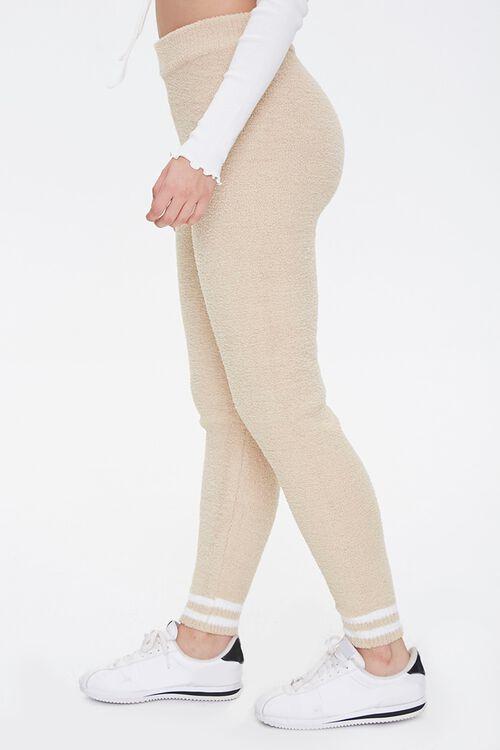 Varsity-Striped Sweater-Knit Leggings, image 3