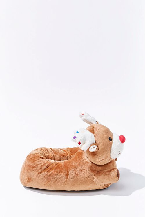 Plush Reindeer Indoor Slippers, image 2