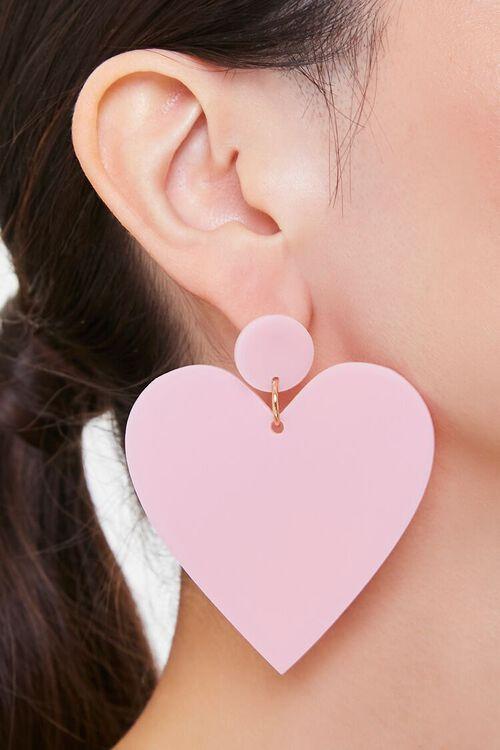 Heart Drop Earrings, image 1