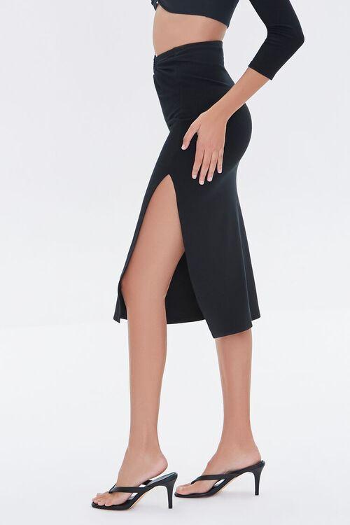 Ruched O-Ring Midi Skirt, image 3