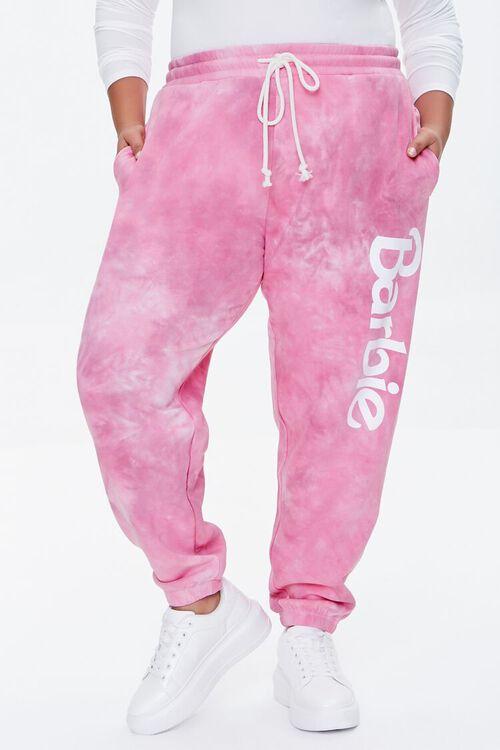 PINK/MULTI Plus Size Tie-Dye Barbie™ Joggers, image 2